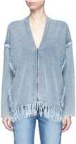 Chloé Fringed V-neck sweater