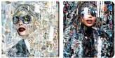 Oliver Gal Katy Hirschfeld Women I (Canvas) (Set of 2)