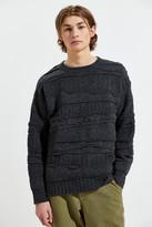 Canton Cotton Mills 3D Knit Crew Neck Sweater