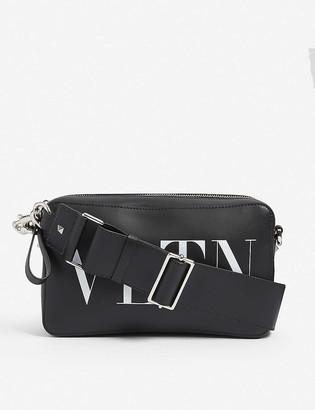 Valentino Branded leather cross-body bag
