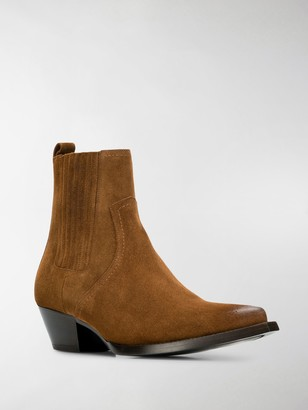 Saint Laurent Pointed Cowboy Boots