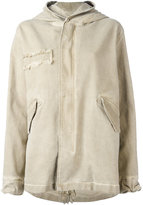 Mr & Mrs Italy - zipped hooded coat - women - Cotton/Spandex/Elastane - M