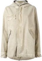 Mr & Mrs Italy zipped hooded coat