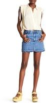 Free People Step Up Denim Mini Skirt