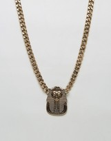Asos Necklace With Egyptian Pendant In Gold