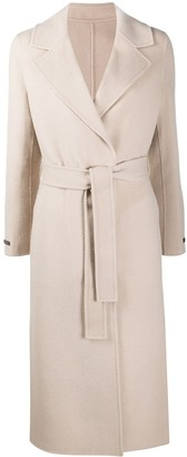 Peserico Wool-Cashmere Blend Wrap Coat