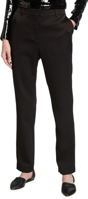 Lafayette 148 New York Clinton Radiant Satin Cloth Ankle Pants