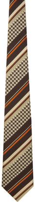Comme des Garçons Homme Deux Brown and Beige Striped Tie