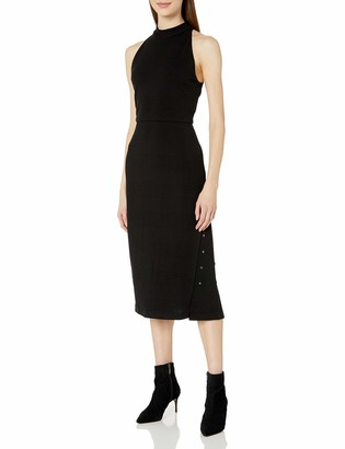 Haute Hippie Women's Turtleneck S/L Knee Length Gown