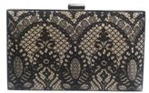 Sondra Roberts Satin with Lace Overlay Clutch