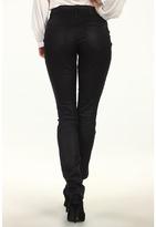 DKNY Coated Soho Skinny in Jet (Jet) - Apparel