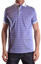 Dalmine Men's White/blue Cotton Polo Shirt.