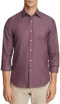 Canali Small Check Regular Fit Button-Down Shirt