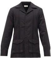 Wales Bonner Carlos Floral-embroidered Cotton-canvas Jacket - Mens - Black