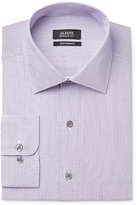 Alfani Men's Classic-Fit Performance Grape White Textured Mini-Stripe Dress Shirt, Only at Macy's