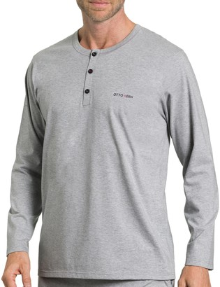 Otto Kern Underwear Men's Shirt Mit Knopfleiste Long Sleeve Top