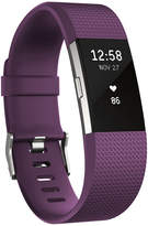 Fitbit Charge 2 Heart Rate + Fitness Wristband (Plum/Silver) - Small