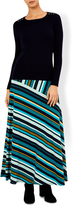 Monsoon Katy Stripe Maxi Skirt