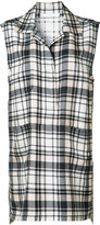 Victor Alfaro - plaid sleeveless shirt - women - Silk - 4