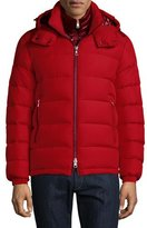 Moncler Brique Puffer Jacket W/Removable Liner, Red