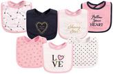 Hudson Baby White & Pink 'Love' Bib - Set of Seven
