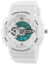 Jewtme fashion sports colorful young boys girls watches - white