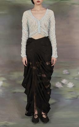 Yuhan Wang Draped Lace Maxi Skirt