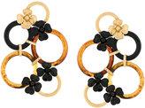Marni multi hoop floral earrings