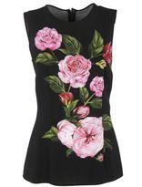Dolce & Gabbana Rose Print Tank Top
