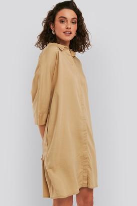 NA-KD Tencel Boxy Short Sleeve Dress