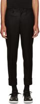 Neil Barrett Black Slim Wool Trousers