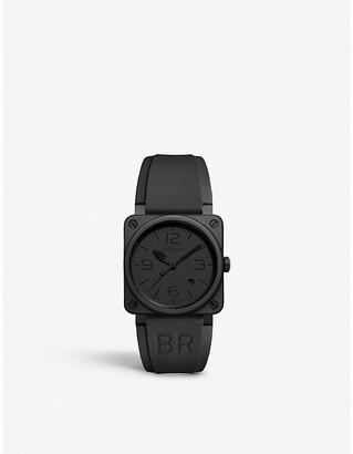 Bell & Ross Mens Black Br0392 Phantom Ceramic And Rubber Watch