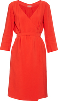 Nina Ricci Mid-weight crepe wrap dress