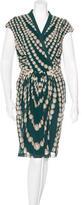 Roberto Cavalli Peal Print Silk Dress