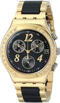 Swatch Women's YCG405G Dreamnight Analog Display Analog Quartz Two Tone Watch