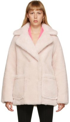 Yves Salomon Meteo Yves Salomon - Meteo Pink Wool Short Double-Breasted Coat