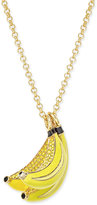 Kate Spade Out Of Office Gold-Tone Crystal Bananas Long Pendant Necklace