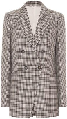 Brunello Cucinelli Checked linen, wool and silk blazer