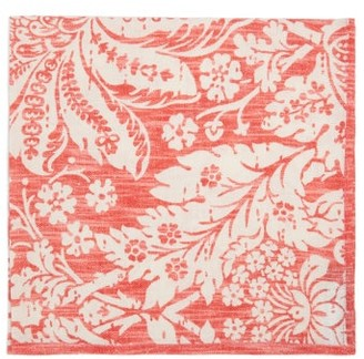 D'Ascoli Set Of Four Garden Floral-print Cotton Napkins - Pink Multi