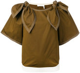 Chloé tie shoulder blouse - women - Cotton - 38