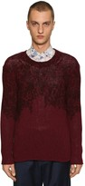 Etro PRINTED WOOL & CASHMERE KNIT SWEATER