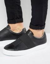 Armani Jeans Elastic Sneakers In Black