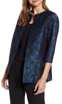 Anne Klein Ozu Jacquard Open Front Jacket