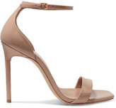 Saint Laurent Amber Patent-leather Sandals - Neutral