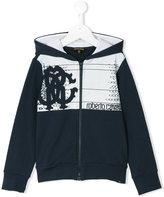 Roberto Cavalli printed hoodie - kids - Cotton/Spandex/Elastane - 8 yrs