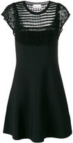 RED Valentino knit panel dress - women - Cotton/Polyamide/Spandex/Elastane/Viscose - M