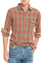 Daniel Cremieux Plaid Lightweight Flannel Long-Sleeve Woven Shirt