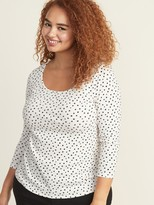 Old Navy Slim-Fit Plus-Size Scoop-Neck Tee