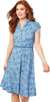 Joe Browns Ditsy Vintage Dress - Blue