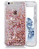Urberry Iphone 7PLUS Case,Running Glitter Cover, Sparkle Love Heart, Creative Design Flowing Liquid Floating Luxury Bling Glitter Sparkle Hard Case for 5.5inch iPhone 7PLUS with a Screen Protector